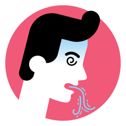 Ícone de sintoma de doença de vômito