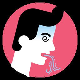 Icono de síntoma de enfermedad de vómito