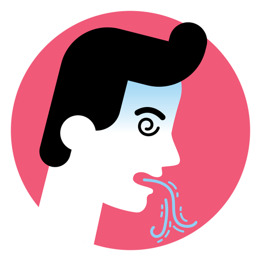 Vomiting sickness symptom icon Transparent PNG