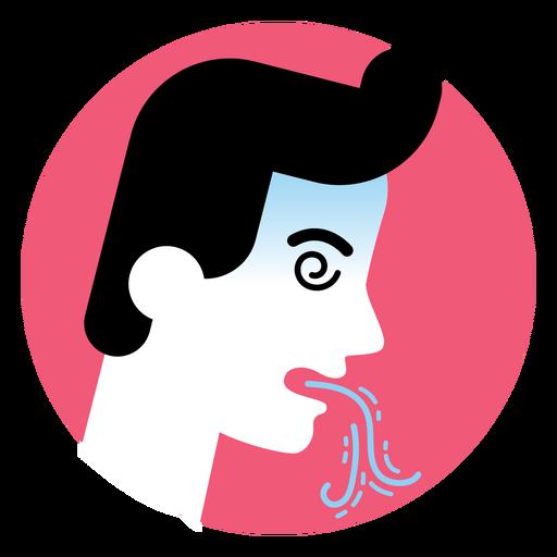 Vomiting sickness symptom icon