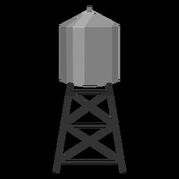 Icono de contenedor de torre de agua