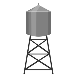 Water tower container icon