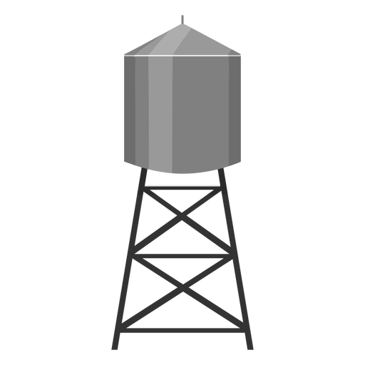 Water tower container icon Transparent PNG