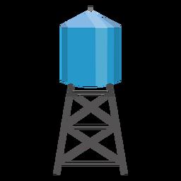 Ilustração de recipiente de torre de água