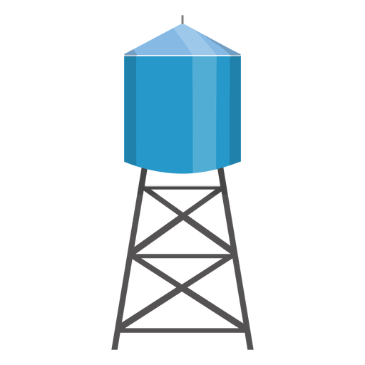 Water tower container illustration Transparent PNG