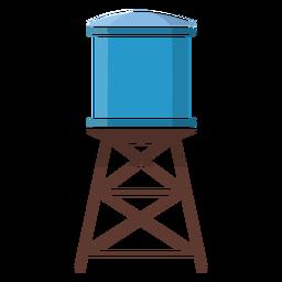 Ilustración de la torre de agua