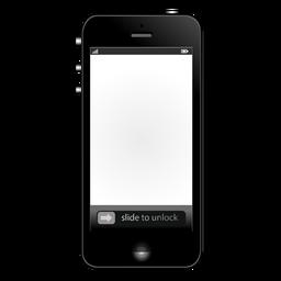 Maqueta de iphone de pantalla blanca