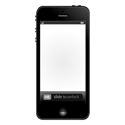 White screen iphone mockup