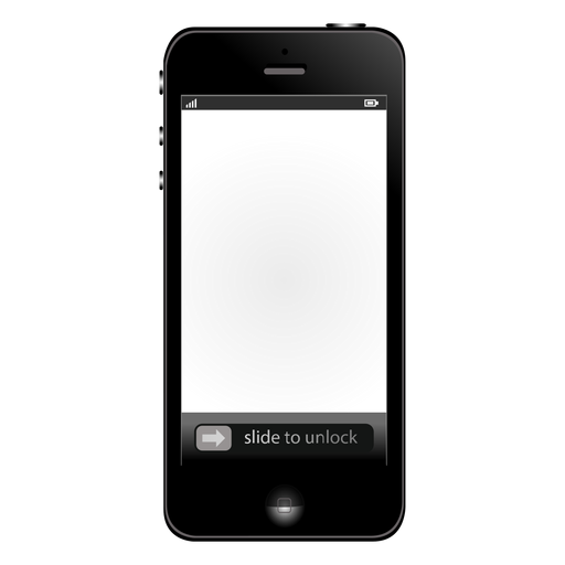 White screen iphone mockup Transparent PNG