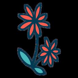 Dibujos animados de flores silvestres