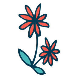 Wilde Blumen Karikatur