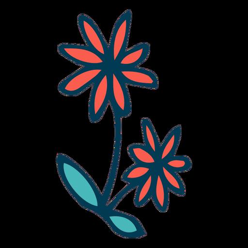 Wild flowers cartoon Transparent PNG