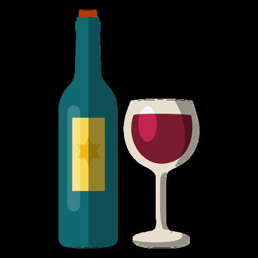 Botella de vino y cristal elemento hanukkah. Transparent PNG