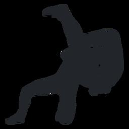 Lutador jogando silhueta