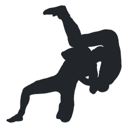 Wrestler throwing silhouette