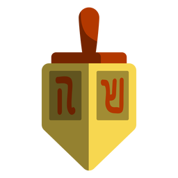 Yellow dreidel icon