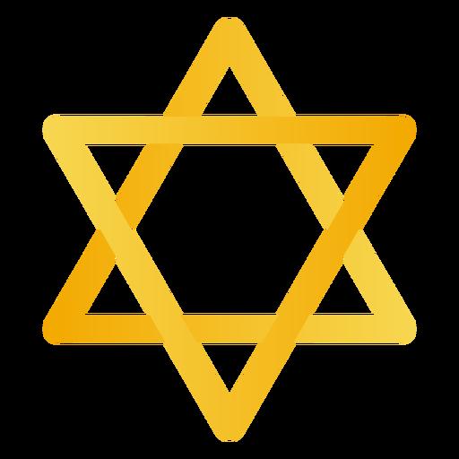Estrela amarela de david Transparent PNG