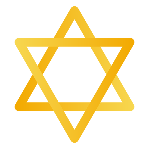 Yellow star of david Transparent PNG