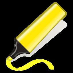 Ícone de marcador de texto amarelo 3d