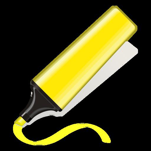 Icono 3d de marcador de texto amarillo