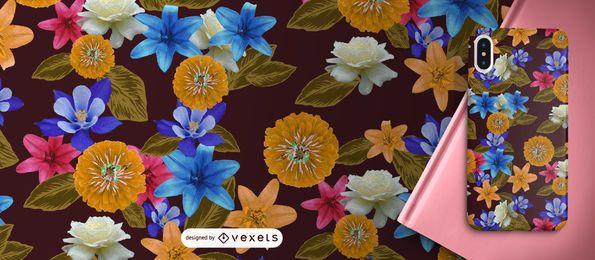 Patrón de flores exoticas