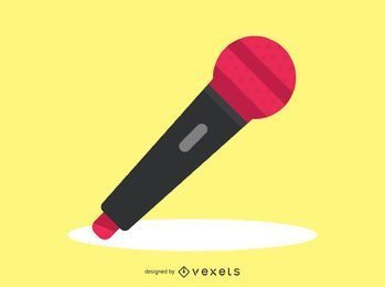 Icono de audio simple de micrófono