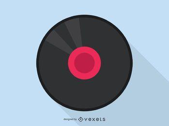 Icono de audio de disco de vinilo