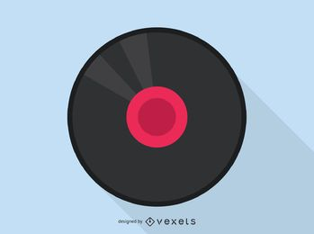 Vinyl record audio icon