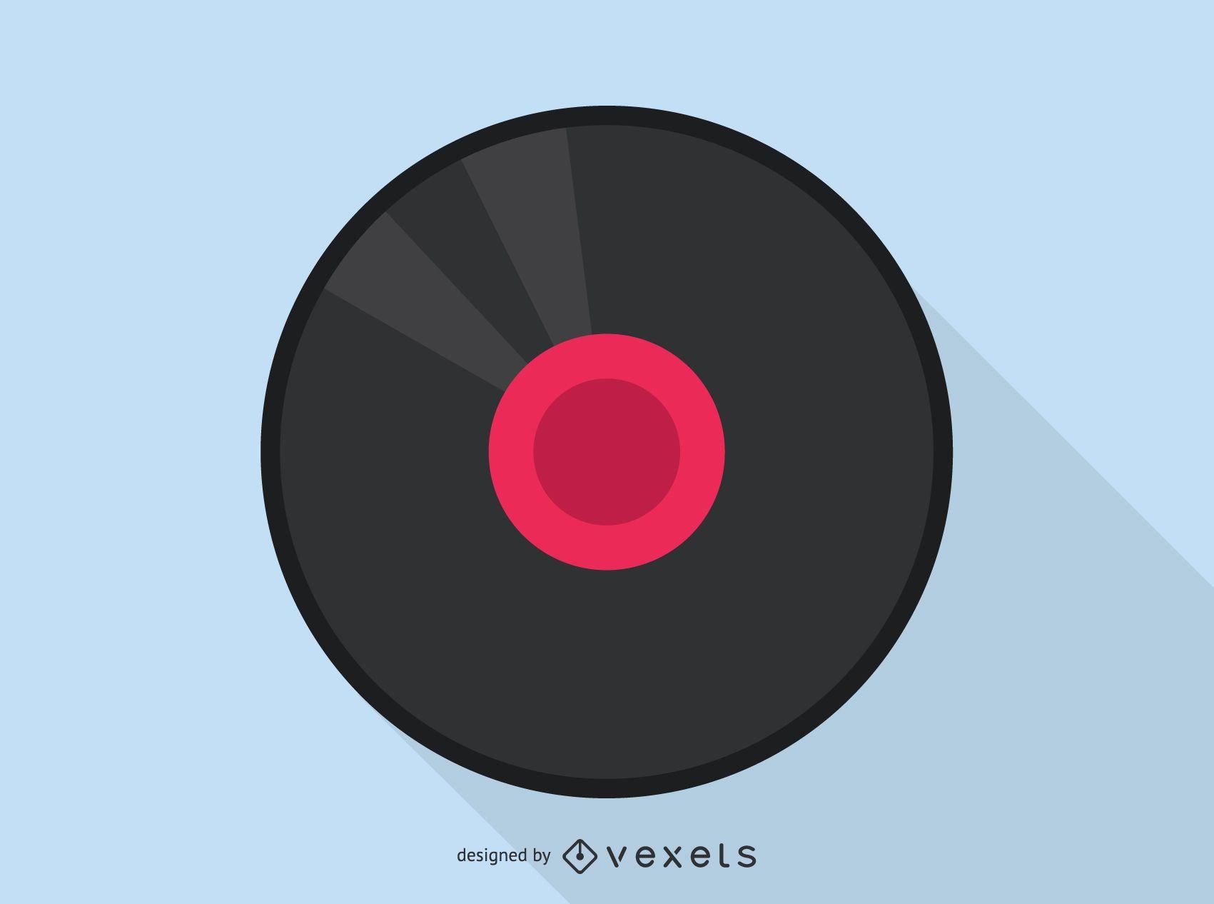 Vinyl record audio icon