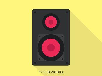 Ícone de áudio do alto-falante
