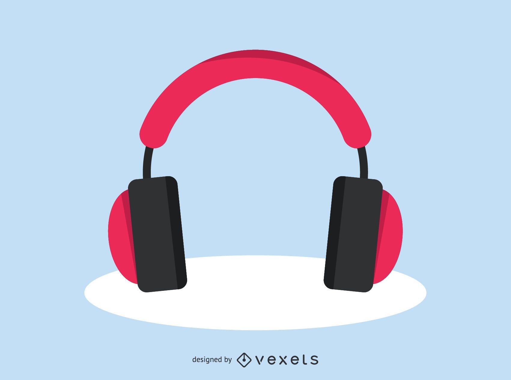 Ícone de áudio de fones de ouvido