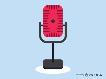 Ícone de microfone de rádio vintage