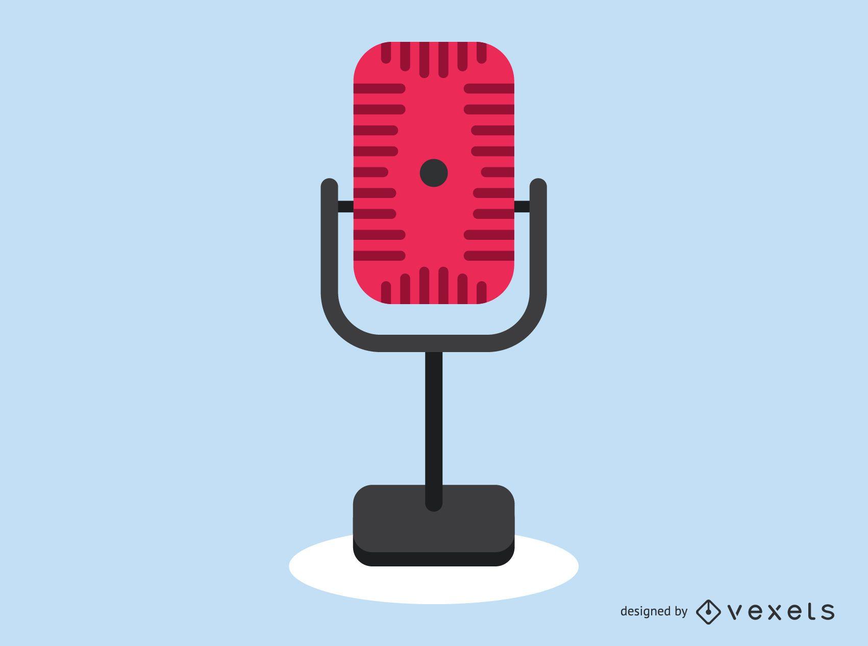Icono de micrófono de radio vintage