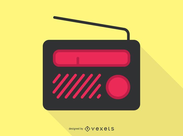 Ícone de áudio de rádio portátil