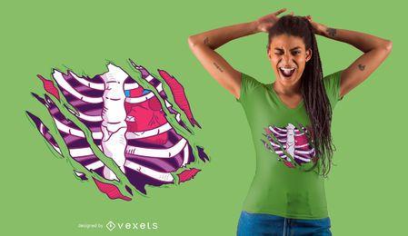 Projeto do t-shirt do zombi