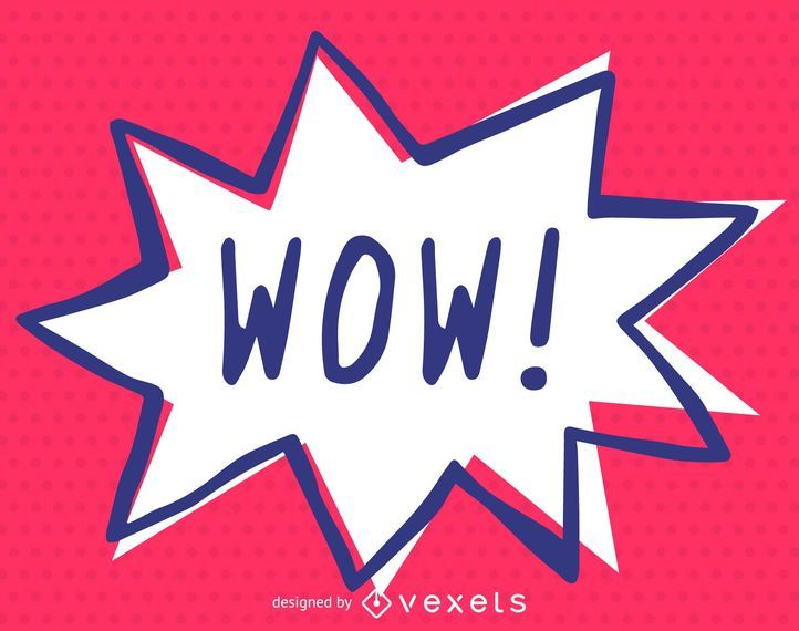 Wow exclamation comics illustration
