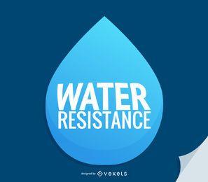 Ícone de gota d'água de resistência à água