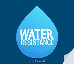 Symbol für Wassertropfen-Wasserfestigkeit
