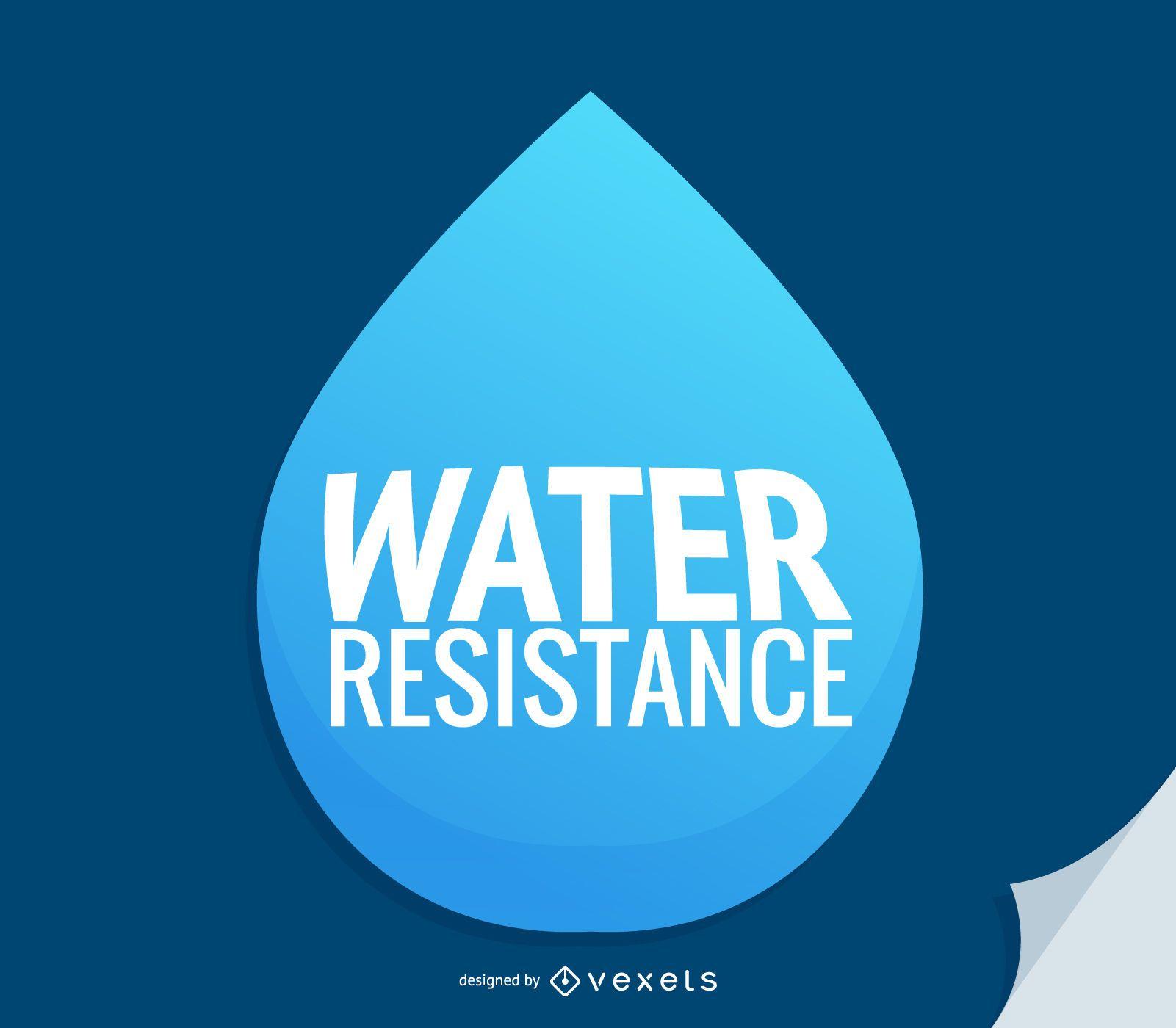Icono de resistencia al agua de gota de agua