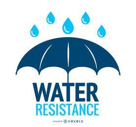 Wasserdichtigkeit Regenschirm Symbol