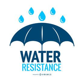 Water resistance umbrella icon
