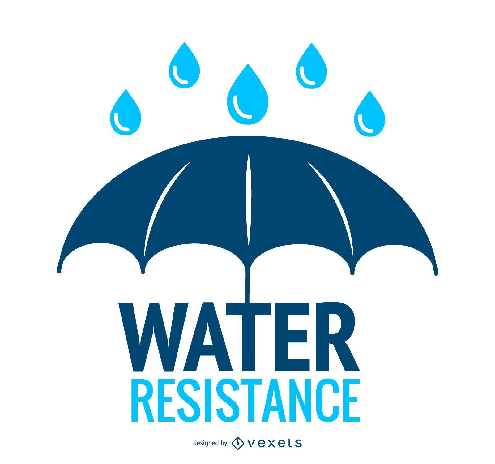 Icono de paraguas de resistencia al agua
