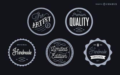 Vintage Label Abzeichen gesetzt