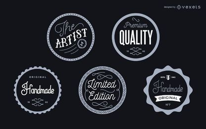 Vintage label badges set