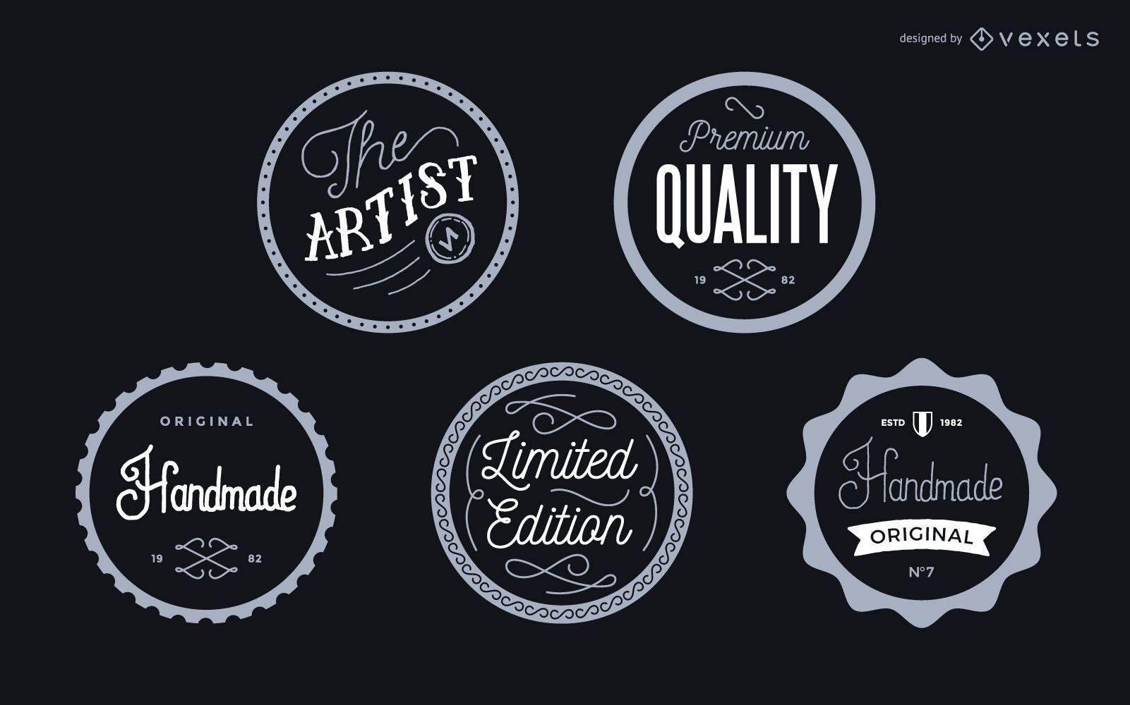 Conjunto de insignias de etiqueta vintage
