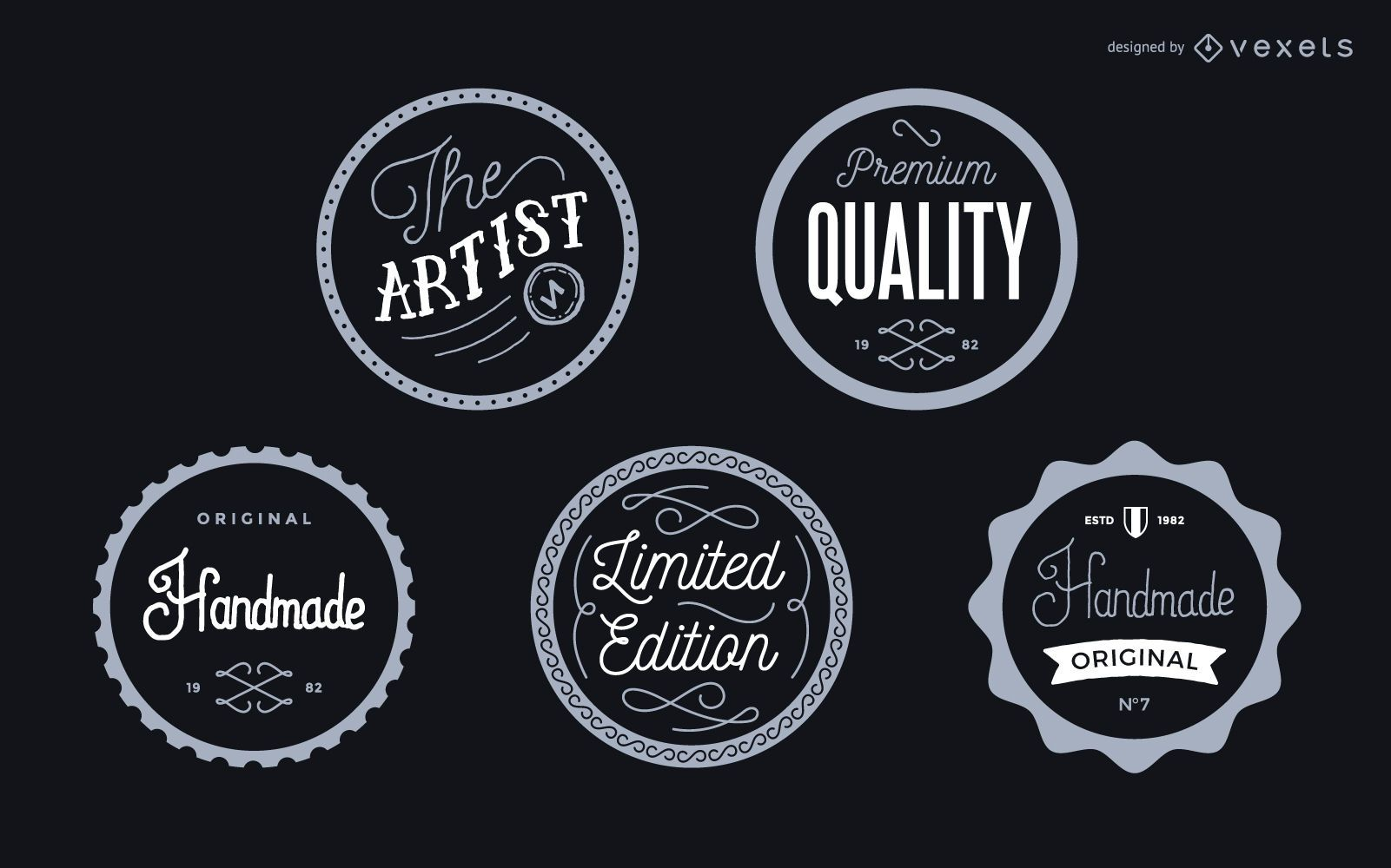 Vintage label badges set