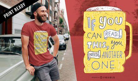 Outro design de t-shirt de cerveja