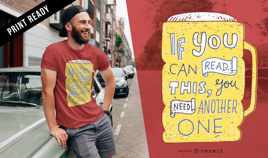 Otro diseño de camiseta de cerveza.