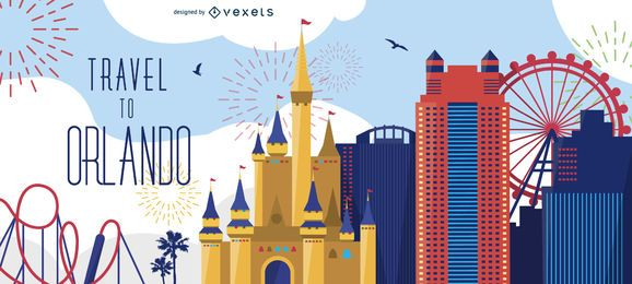 Viajar a la pancarta de Orlando