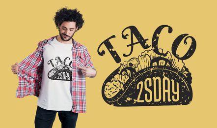 Diseño de camiseta Taco Tuesday